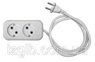 Удлинитель электрический АБС, б/з, 2,2 кВт (10А), 0,75мм 3 гнезда, 5 м