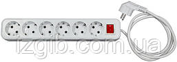 Удлинитель электрический АБС, с/з, 3,5 кВт (16А), 1,00мм 4 гнезда, 2 м