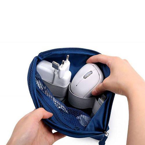 Органайзер для зарядок Cable Pouch синий