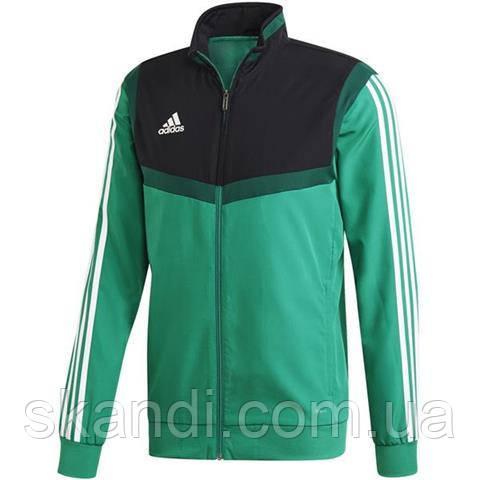 Толстовка мужская adidas Tiro 19 Presentation Jacket зеленая DW4788