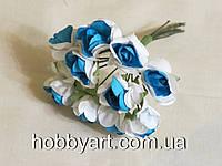 Цветочки бумажные 1,5-2см (10шт)