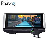 Видеорегистратор навигатор планшет Phisung k 6, GPS, регистратор, камера заднего вида 4 G, Car Assist.