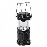 Кемпинговая LED лампа G 85 c Power Bank и солнечной панелью Black