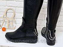 Сапоги женские Gino Figini М-112-02 из натуральной кожи 36 Черный, фото 2