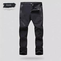 Легкие штаны Outdoorsport для города и трекинга SoftShell (черные) 2100