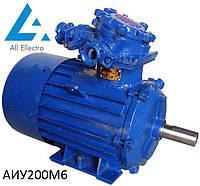 Взрывозащищенный электродвигатель АИУ200М6 22 кВт 1000об/мин