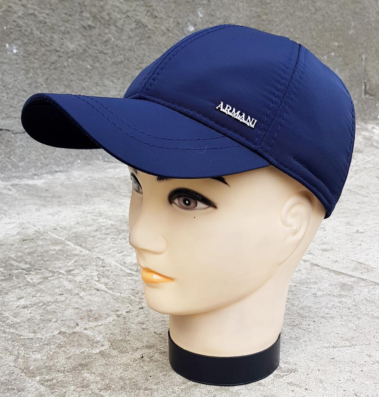 Мужская демисезонная кепка Клаус Армани Плащевка Темно-синяя(386 МД) L