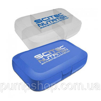 Таблетница Scitec Nutrition Pill-Box синяя, фото 2