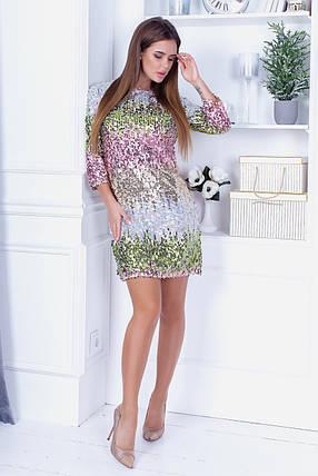 Платье пайетка 74025, фото 2