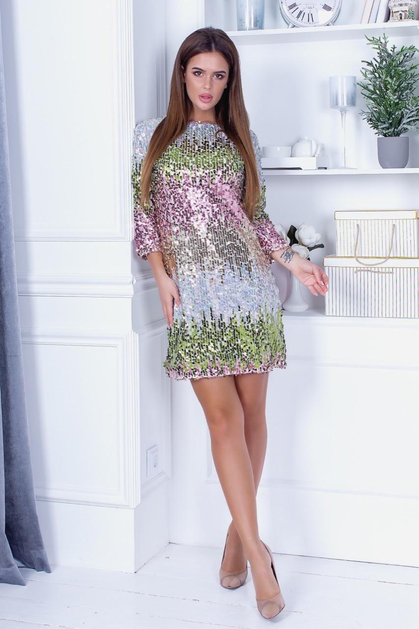 Платье пайетка 74025