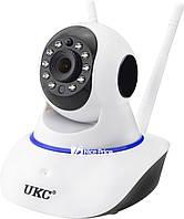 Беспроводная поворотная IP камера WiFi microSD 6030B PT2 100ss (1354)