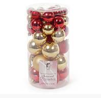 Набор елочных шаров Bonita Золото с красным 40 шт (147-585)