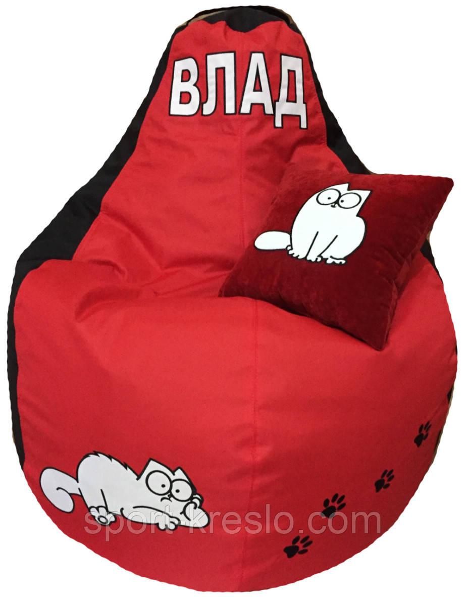 Крісло-мішок пуфик безкаркасний груша кіт Саймон