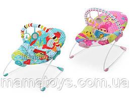 Детский Шезлонг качалка 6750 - 6790  3 игрушки, вибрация, 2 цвета