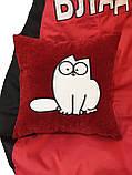 Бескаркасное Кресло мешок пуфик груша кот Саймон, фото 2