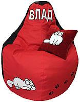 Кресло бескаркасное мешок пуфик игровой кот Саймон