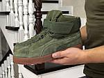 Чоловічі зимові кросівки Puma (темно-зелені), фото 4