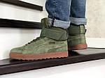 Чоловічі зимові кросівки Puma (темно-зелені), фото 5