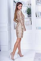 Сукня ажурне мереживо в кольорах 74390, фото 3