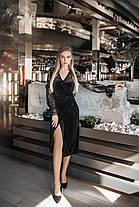 Платье миди бархат на запах в расцветках 165092, фото 2