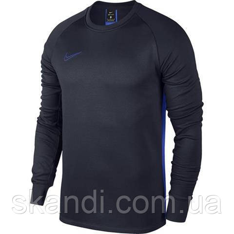 Толстовка мужская Nike Therma Academy Crew Top синяя AO9189 451
