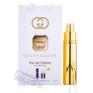Набір подарункових жіночих парфумів Gucci guilty 45 мл