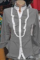 Женская блуза воротник стойка