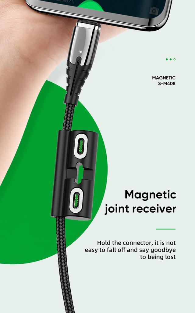 Кабели Lightning Joyroom Magnetic Черный