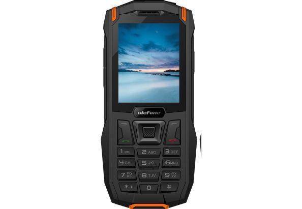 Защищенный кнопочный телефон на 2 сим карты Ulefone Armor Mini чёрно-оранжевый