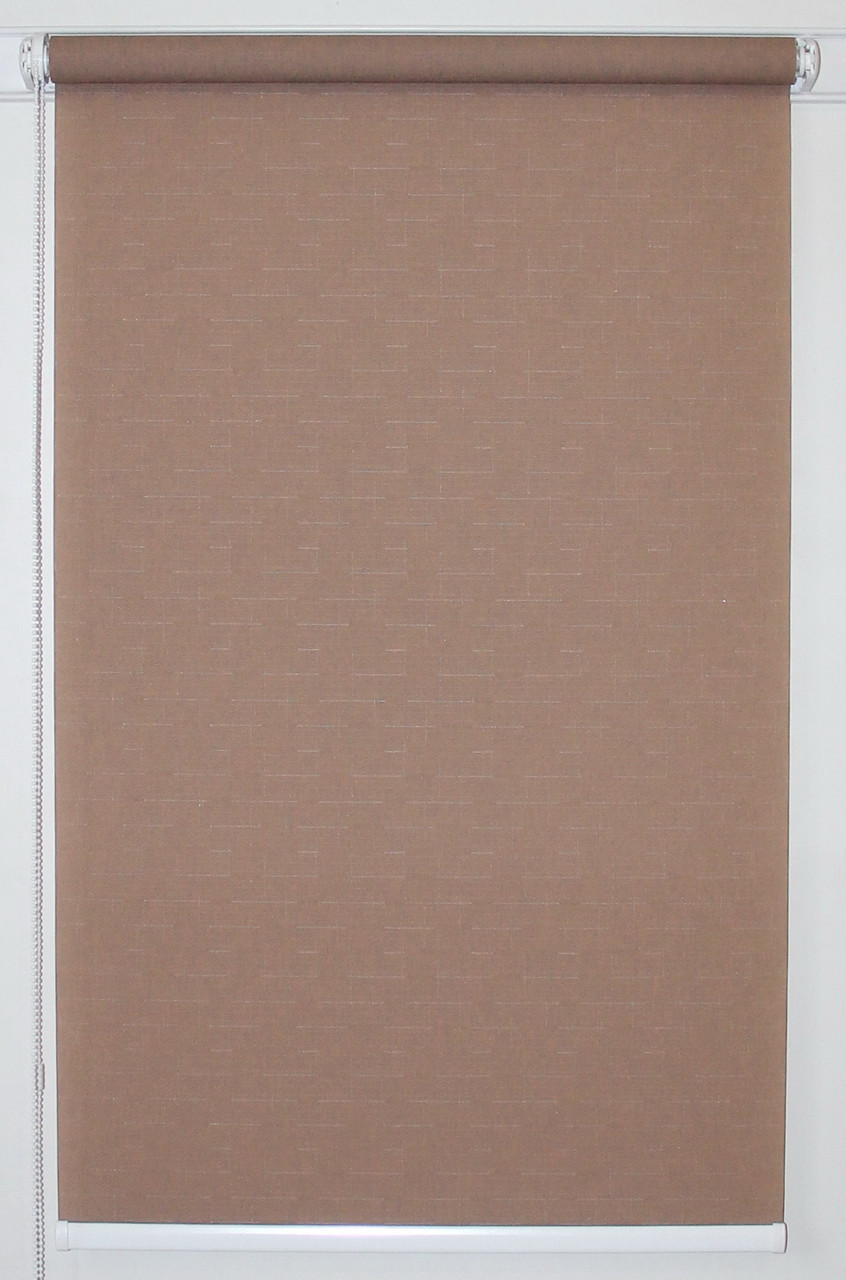 Рулонная штора 325*1500 Ткань Лён 7439 Какао