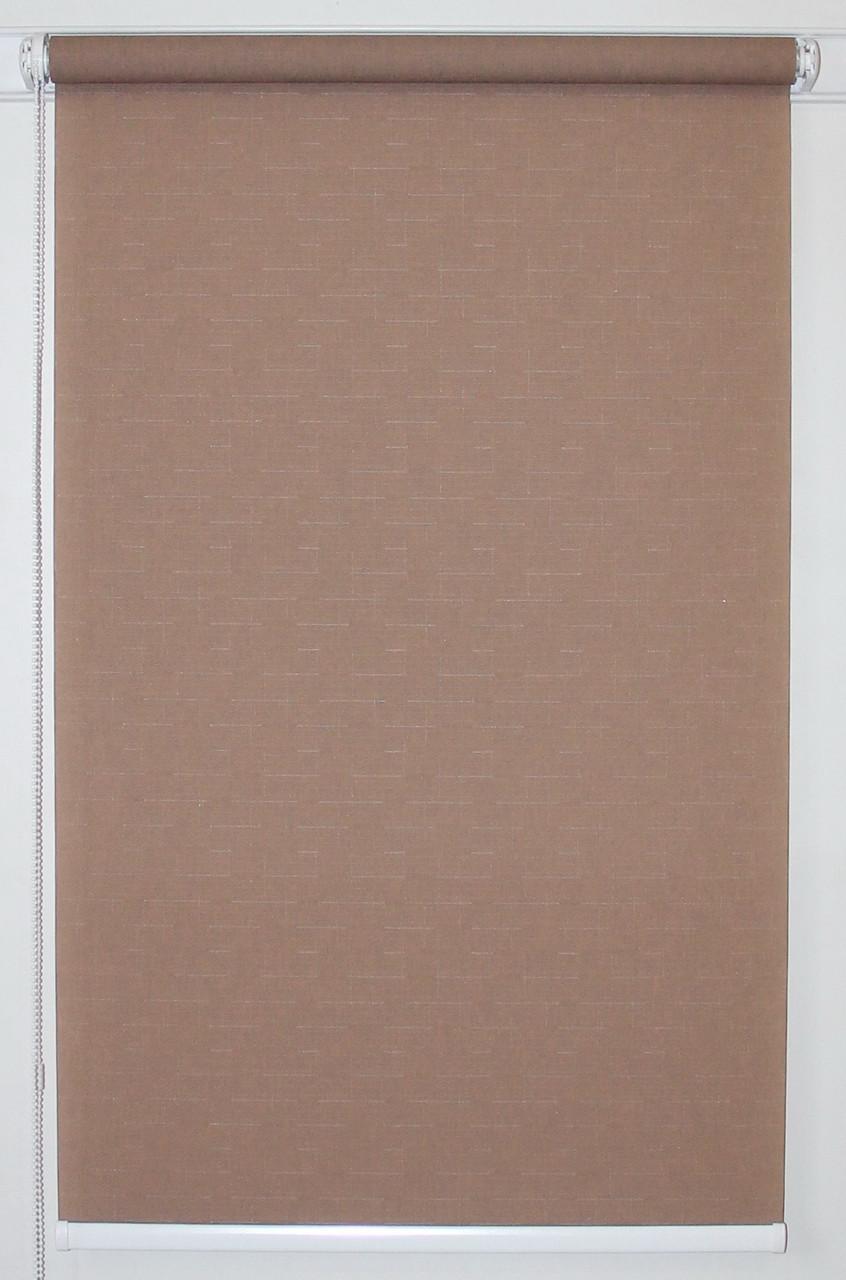 Рулонная штора 375*1500 Ткань Лён 7439 Какао