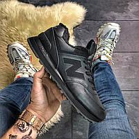 New Balance 574 Black Fur