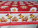 Скатерть новогодняя тканевая  2,2м*1,5м, фото 3