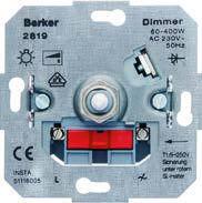 Поворотный диммер для ЛН та ВВГЛ 60-400 Вт Berker
