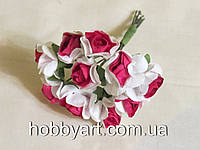 Цветочки бумажные 1,5-2см (10шт), фото 1