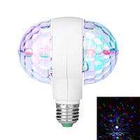 Диско лампа вращающаяся LED lamp для вечеринок Leiwen (двойная)