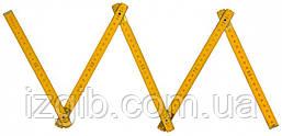 Метр складной деревянный 1 м