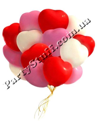 шарики в форме сердец Gemar
