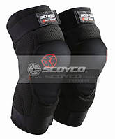 Наколенники защитные SCOYCO K16 (PU, поролон, терилен, сетчатая ткань, черный, безразмерные)