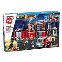 Конструктор Brick Пожарная часть (2808), фото 1