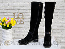 Сапоги Gino Figini  М-50-07 из натуральной замши и кожи 37 Черный, фото 3