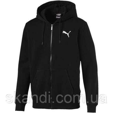 Толстовка мужская Puma Essentials Full Zip Hoody Fleece черная 851763 21
