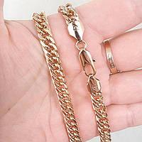 Ланцюжок xuping 6мм 60см медичне золото позолота 18к панцирне плетення ц726, фото 1