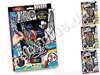 Набор для творчества Бархатная раскраска с фломастерами VELVET. Danko Toys VLV-01-01-10