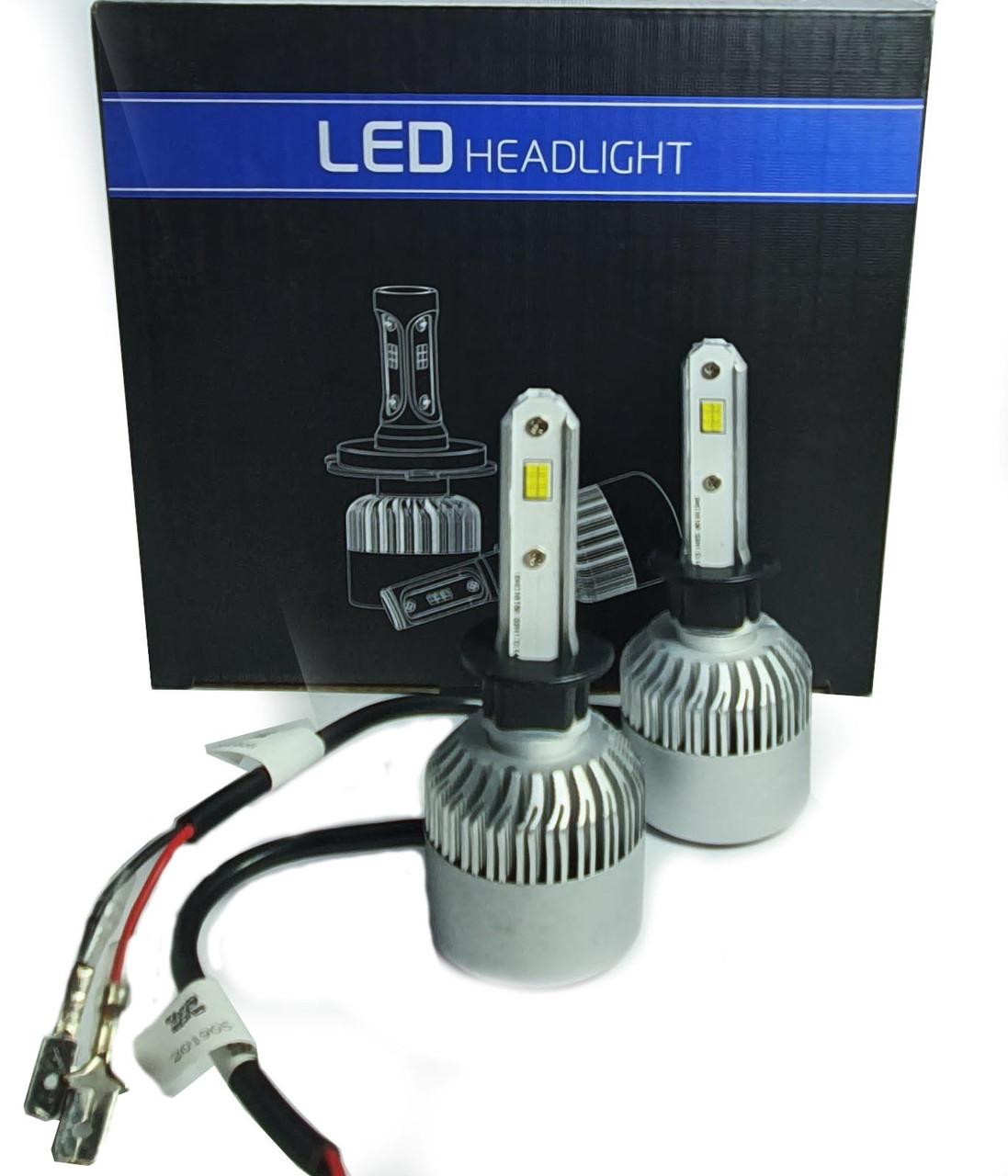 Светодиодная лампа цоколь H1, S2 CSP 6500К, 8000 lm 36W, 9-36В