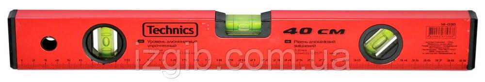 Уровень упрочненный красный, 3 глазка 200 см