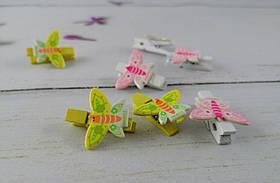 Набір прищіпок канцелярських Прищіпка-метелик 3,5 см в пакеті 5-579