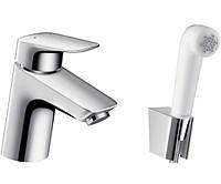 Смеситель для раковины с гигиеническим душем Hansgrohe Logis 71290000 (24433)