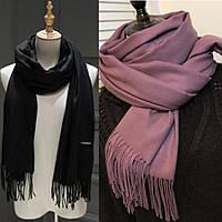 Женский однотонный широкий шарф: 2 цвета