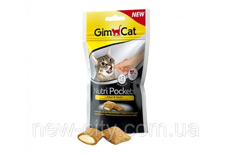 GimCat Nutri Pockets Подушечки с сыром и таурином для кошек 60гр